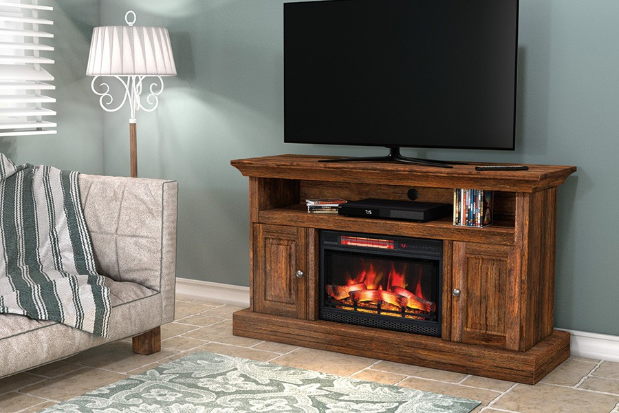 Hartford TV Console with Fireplace