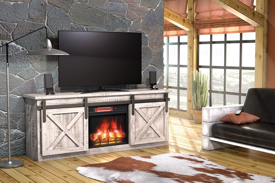 Houston TV Console with Fireplace