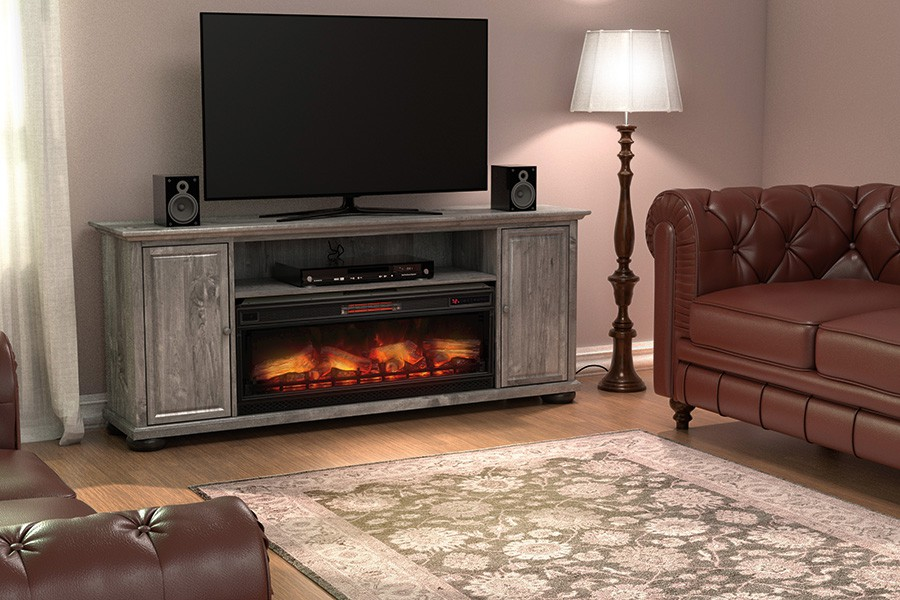 Stafford TV Console with Fireplace