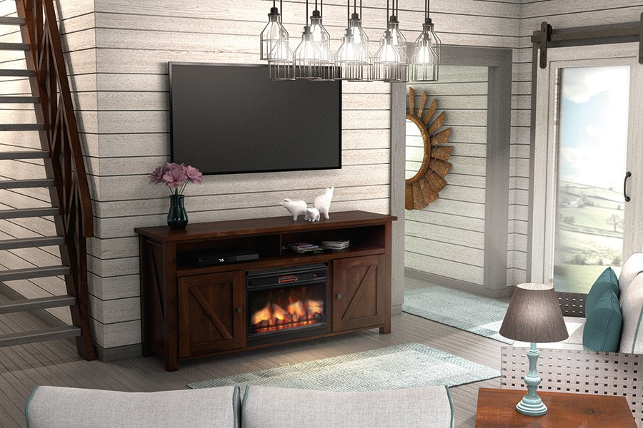 Tulsa TV Console with Fireplace