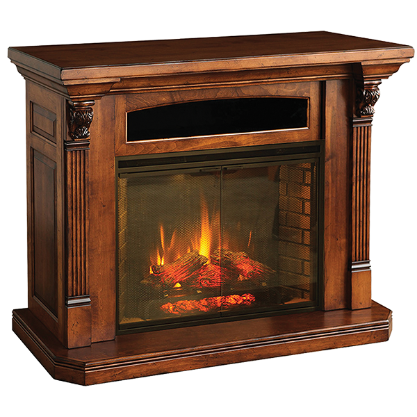 mantel fireplace console