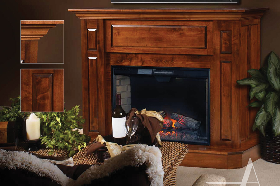 2105 abbie 2103 mantel fireplace console